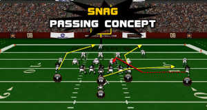 snag pass concept 300x160 Madden Tips | Madden | Football Plays | Football Strategies