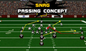snag pass concept 300x180 Madden Tips | Madden | Football Plays | Football Strategies