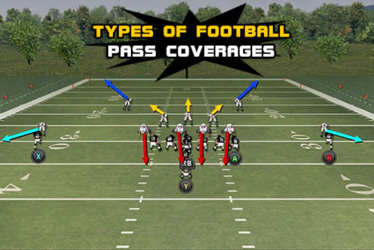 types football pass coverages 537x360 Madden Tips   Madden   Football Plays   Football Strategies